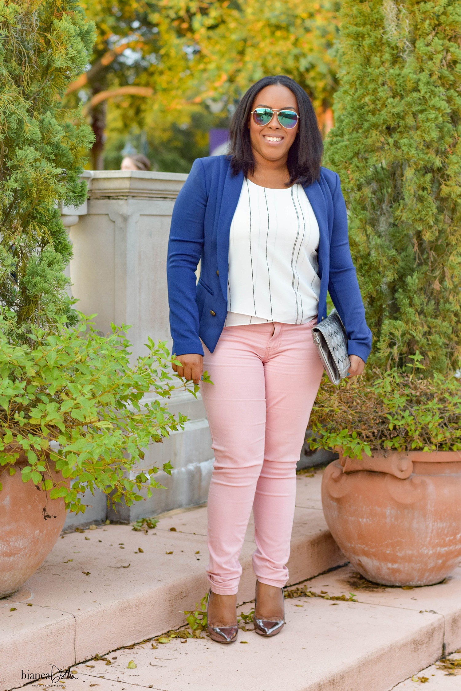 Tips for Styling Blush Jeans - Bianca Dottin - Orlando Fashion Blogger