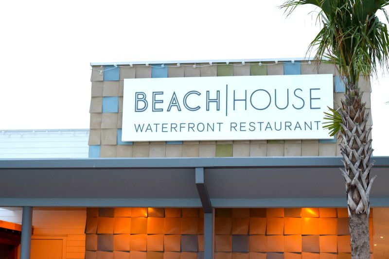 Eating at The Beach House Restaurant