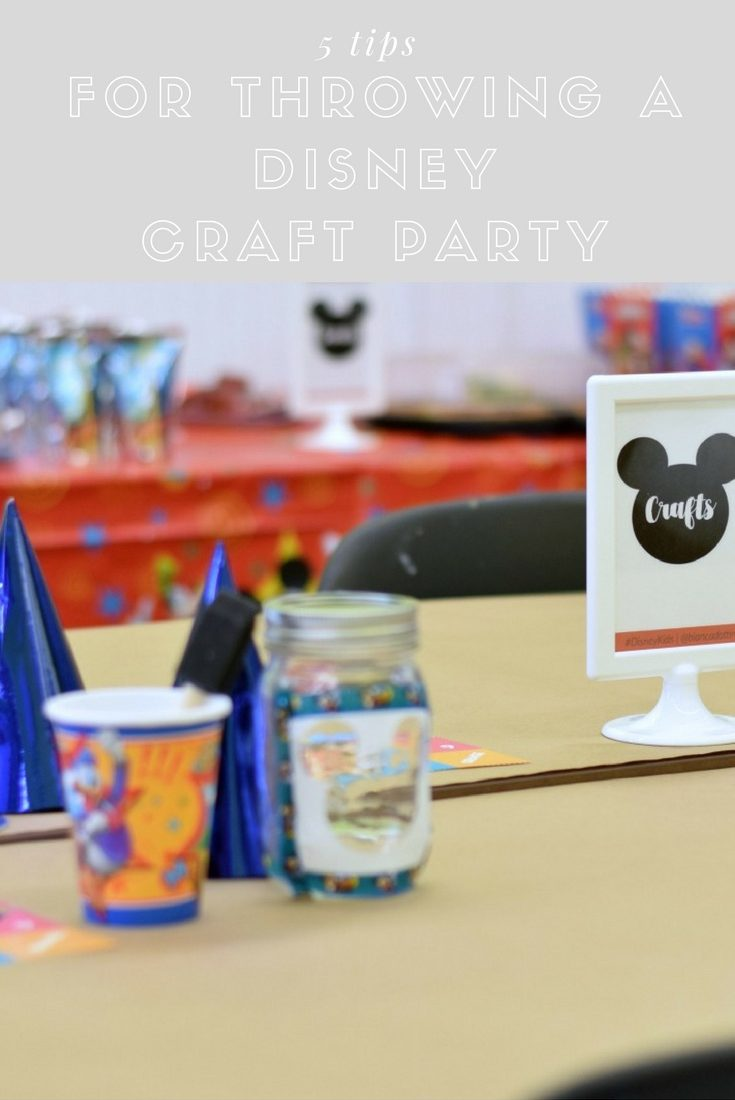 5 Tips for Throwing a Disney Craft Party + A Party Planner Printable