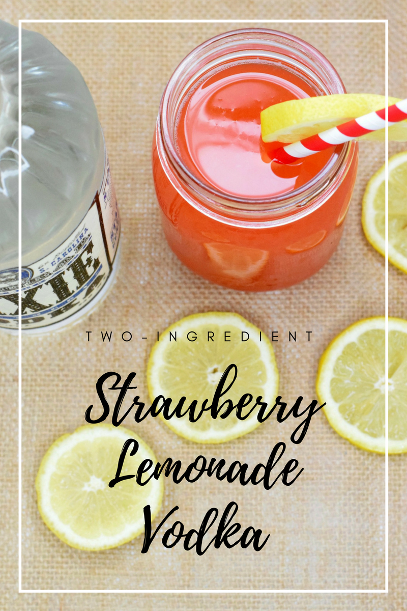 Two-Ingredient Strawberry Lemonade Vodka Cocktail | Bianca Dottin