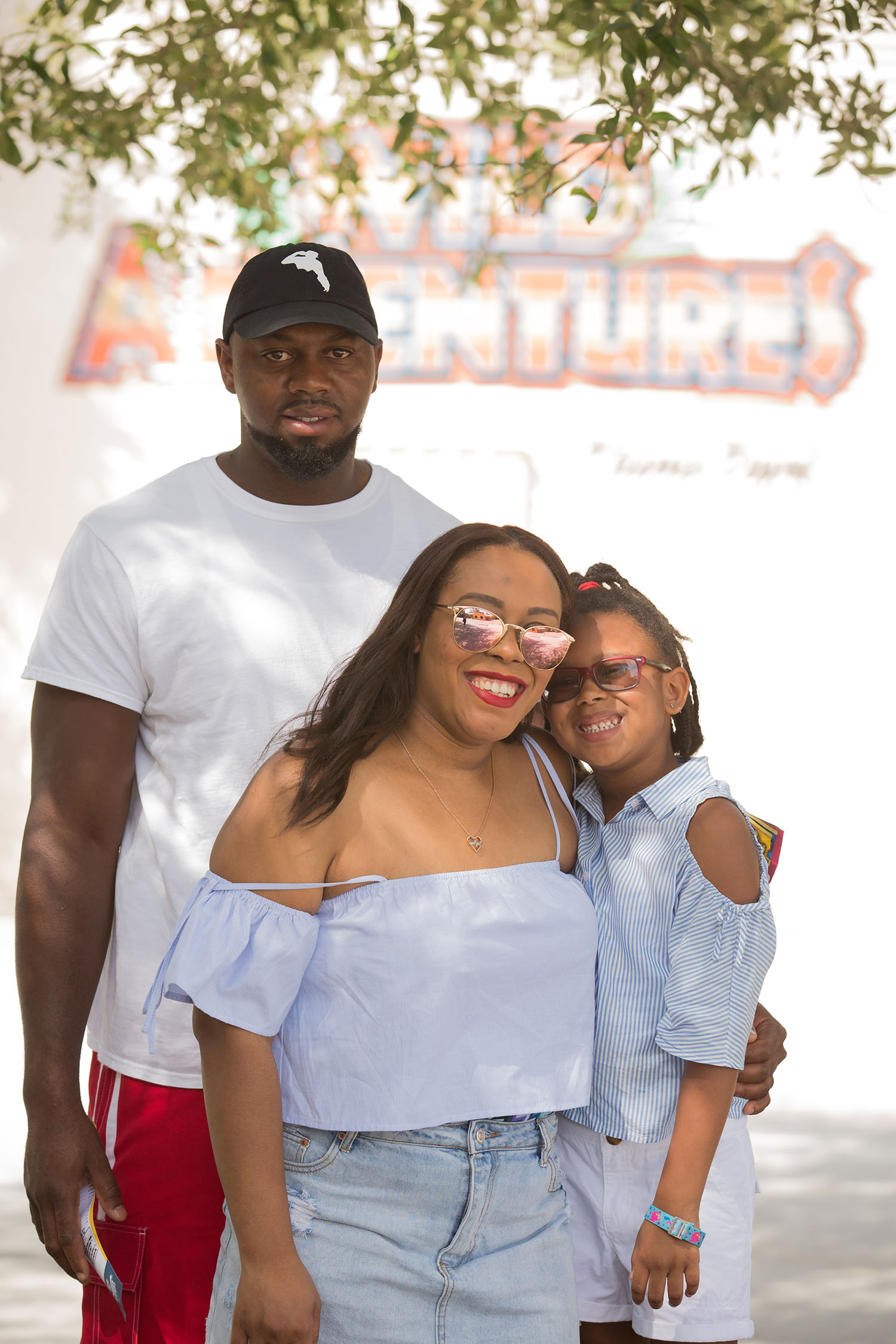 Lifestyle blogger Bianca Dottin and her family in a Wild Adventures Travel Guide