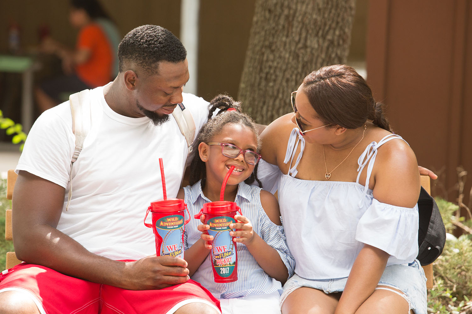 Lifestyle blogger Bianca Dottin and her family at Wild Adventures