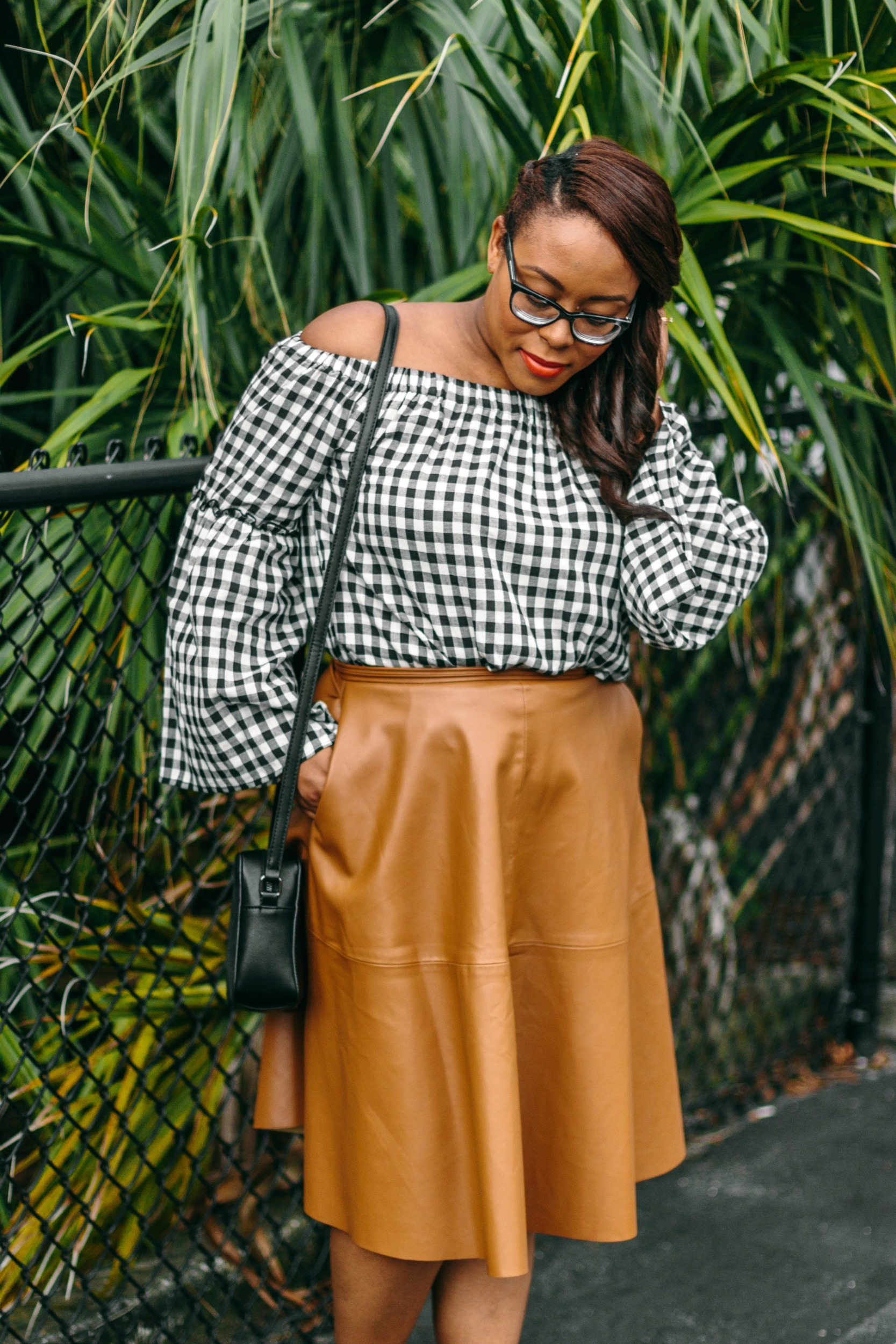 Leather and Gingham | Bianca Dottin