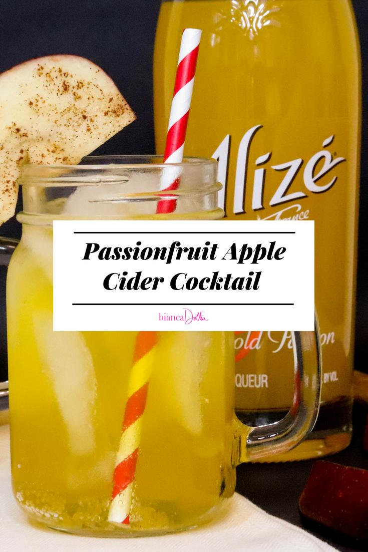 Passionfruit Apple Cider Cocktail | Bianca Dottin