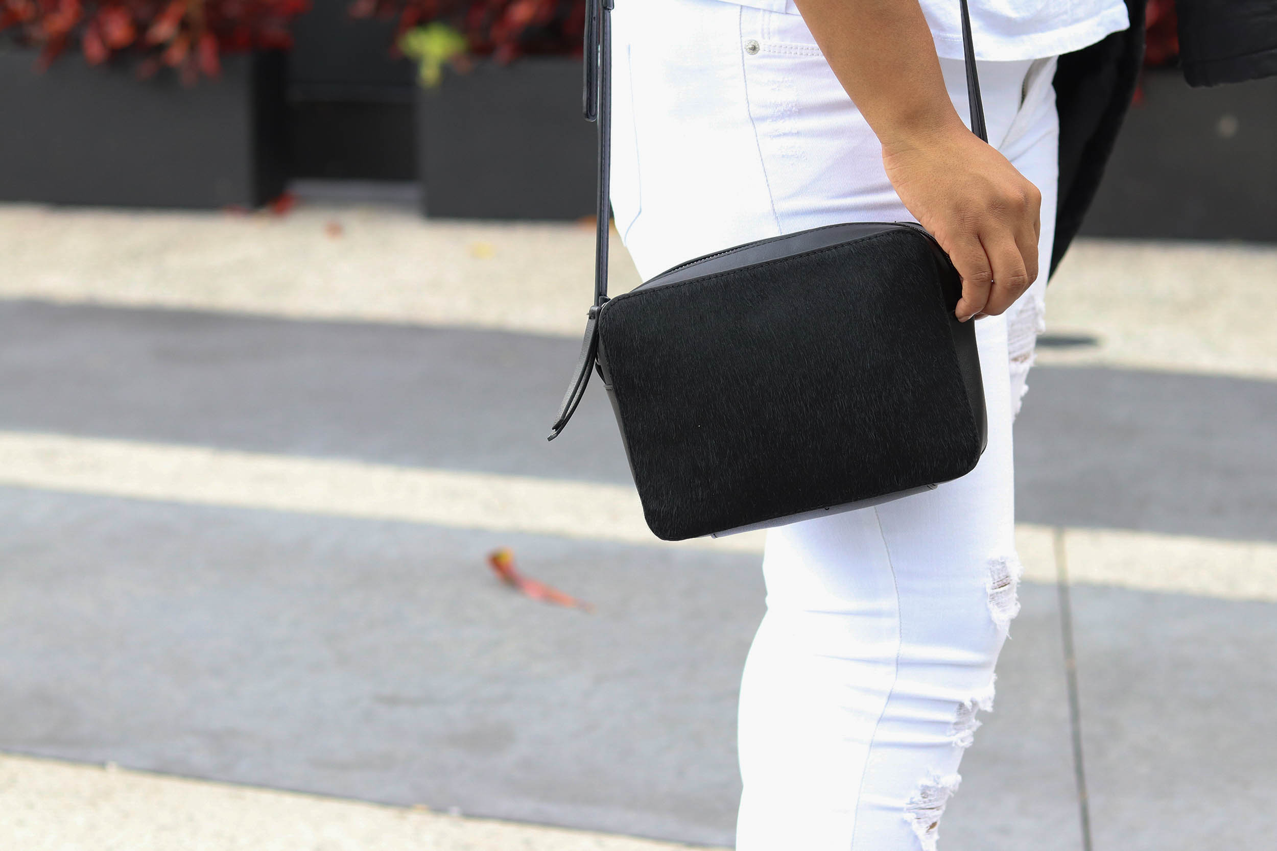 Black Faux Leather Jacket Fall Wardrobe Staple | Bianca Dottin