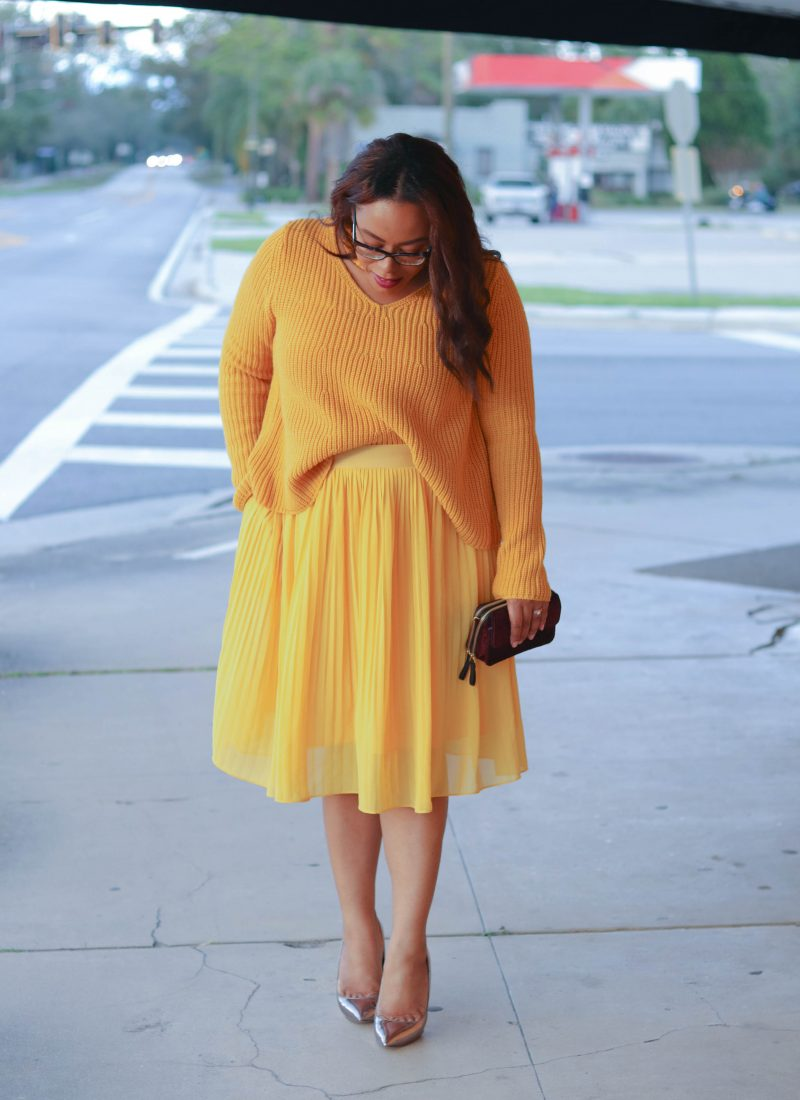 The Super Easy Way to Wear Monochrome Mustard