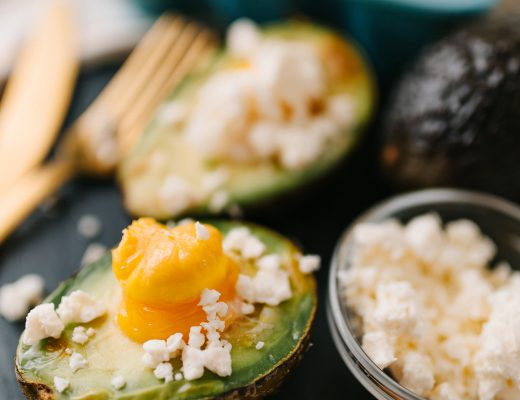Baked Avocado Egg with Feta Cheese - Bianca Dottin