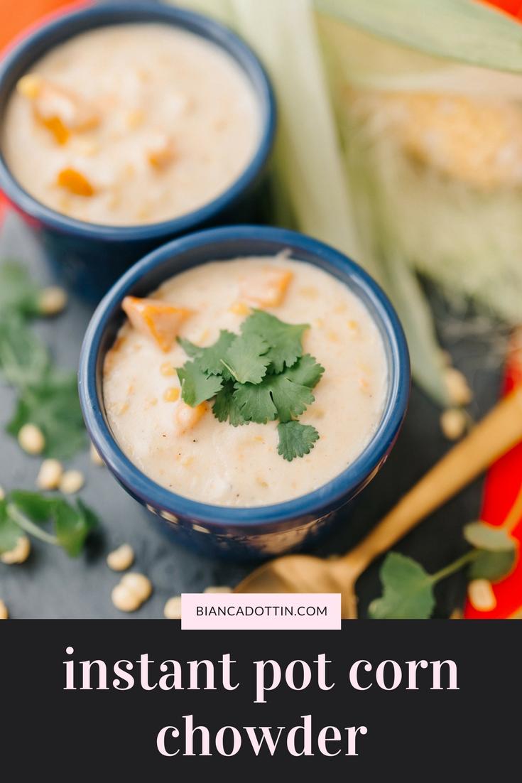 Instant Pot Corn Chowder With Turkey - Bianca Dottin
