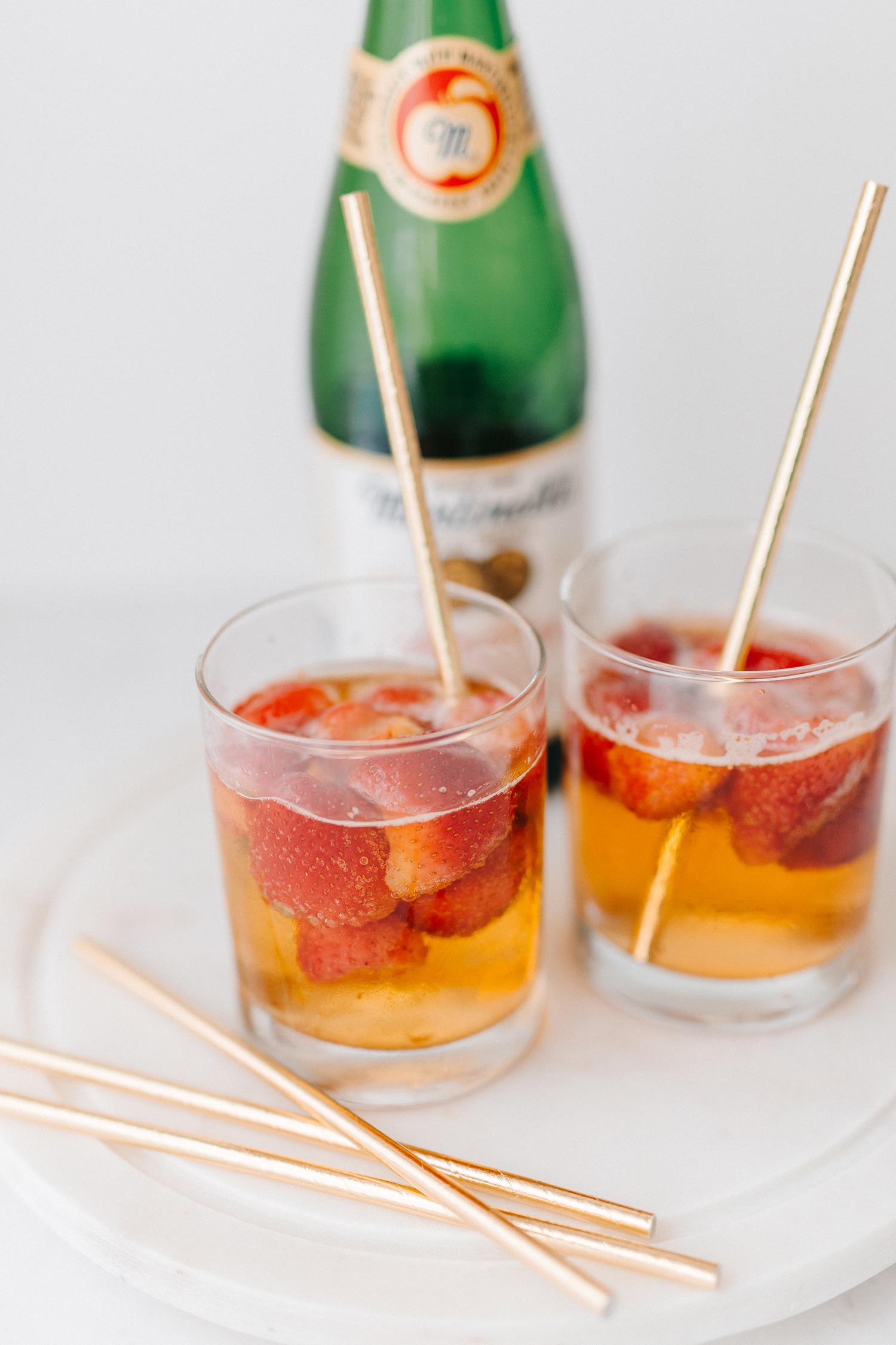Strawberry Apple Cider Mocktail - Bianca Dottin