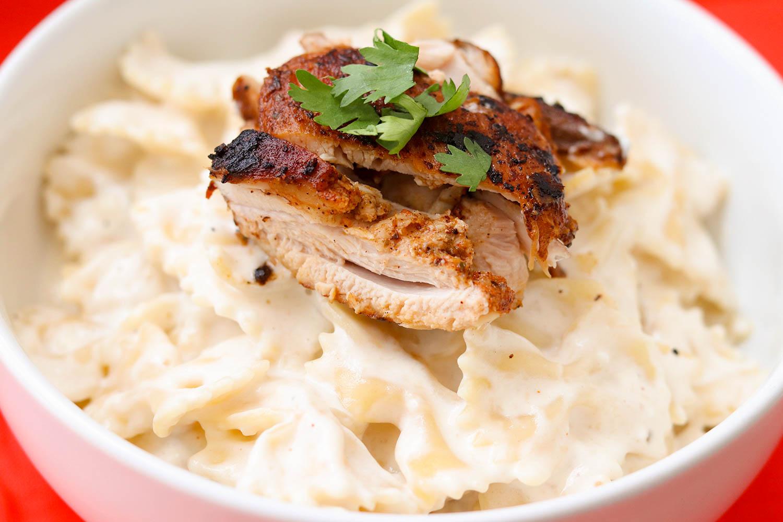 Creamy Jerk Chicken Pasta - Bianca Dottin
