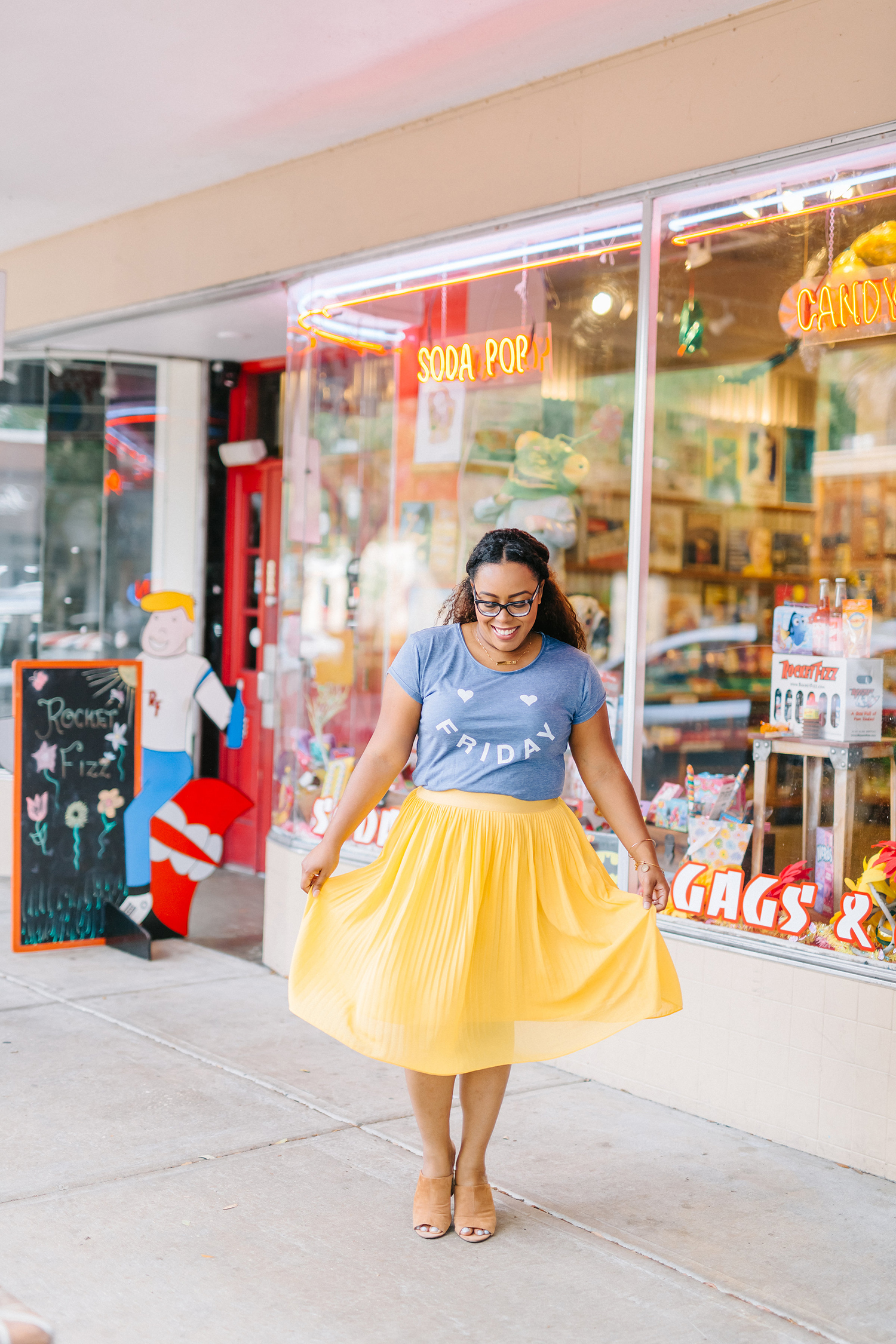 How to Style a Pleated Midi Skirt Outfit - Orlando Fashion Blogger
