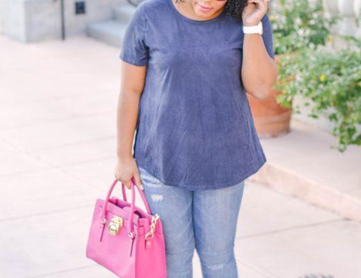 Navy Blue Top - Bianca Dottin - Orlando Fashion Blogger
