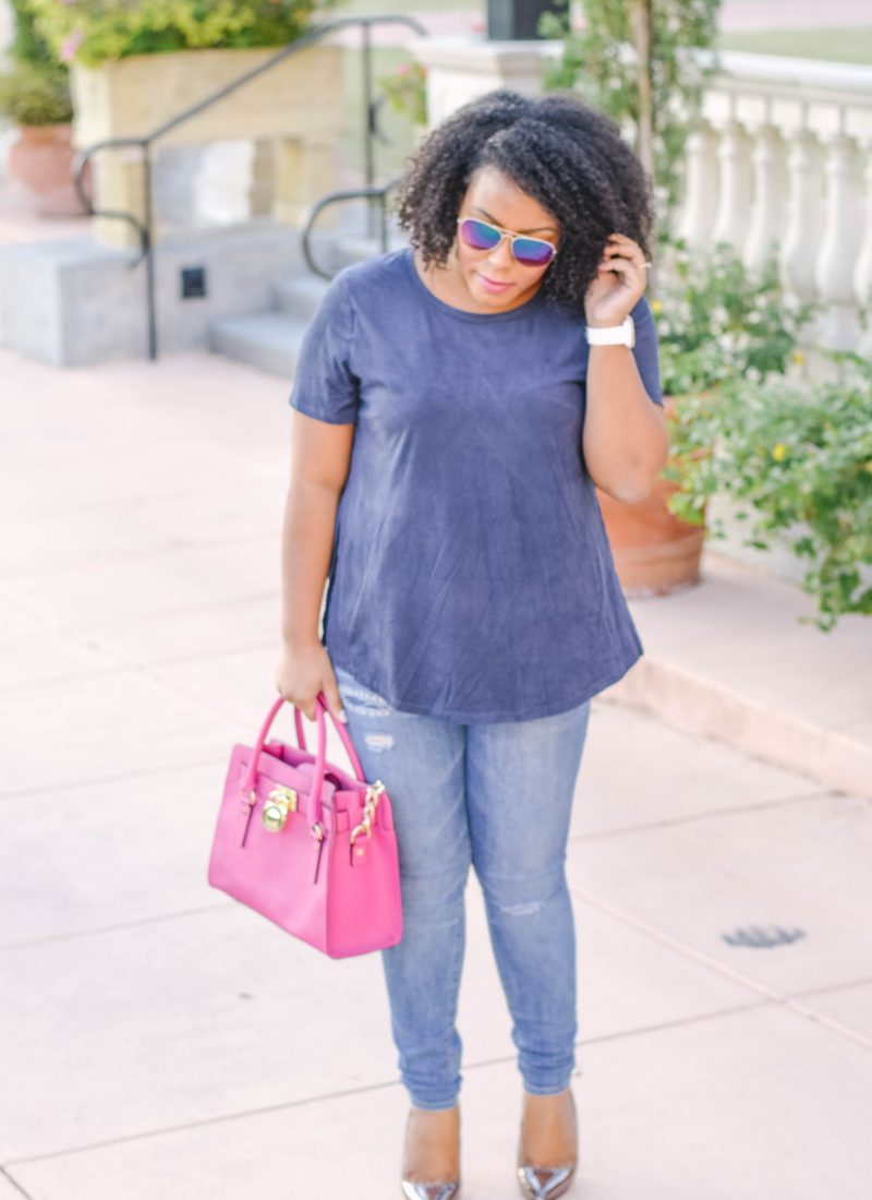 Navy Blue Top - Bianca Dottin - Orlando Fashion Blogger