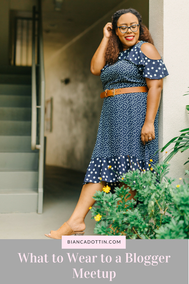 What to Wear to A Blogger Meetup - Polka Dot Dress