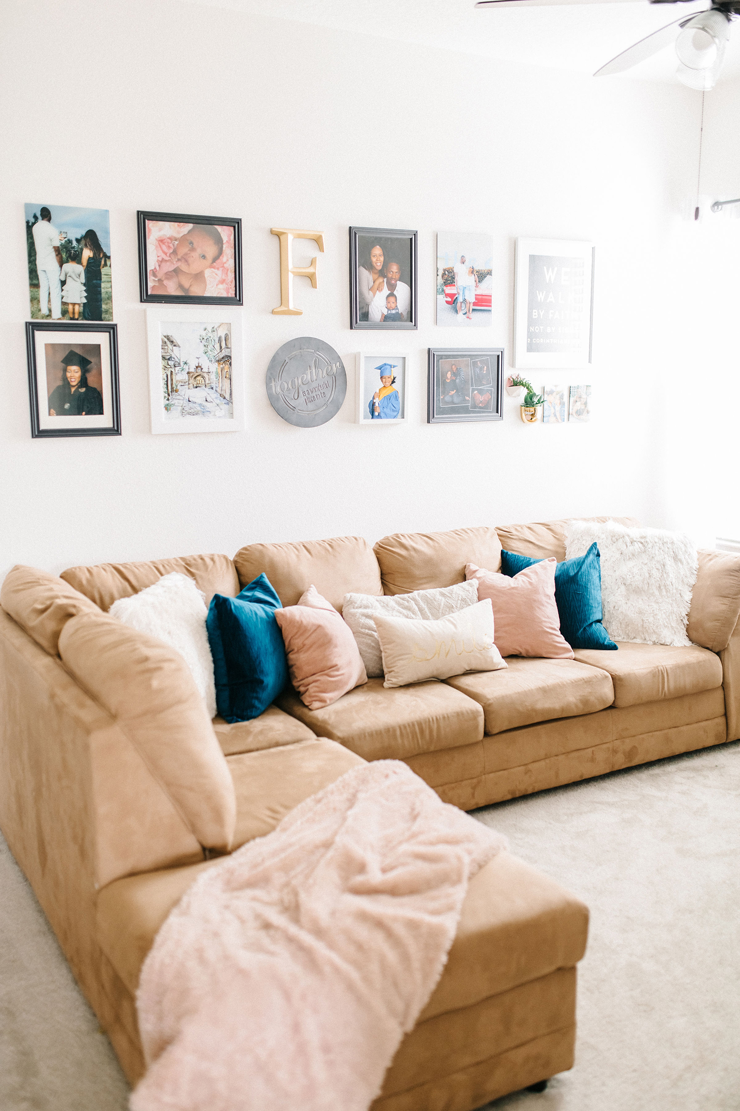 modern family room sectional
