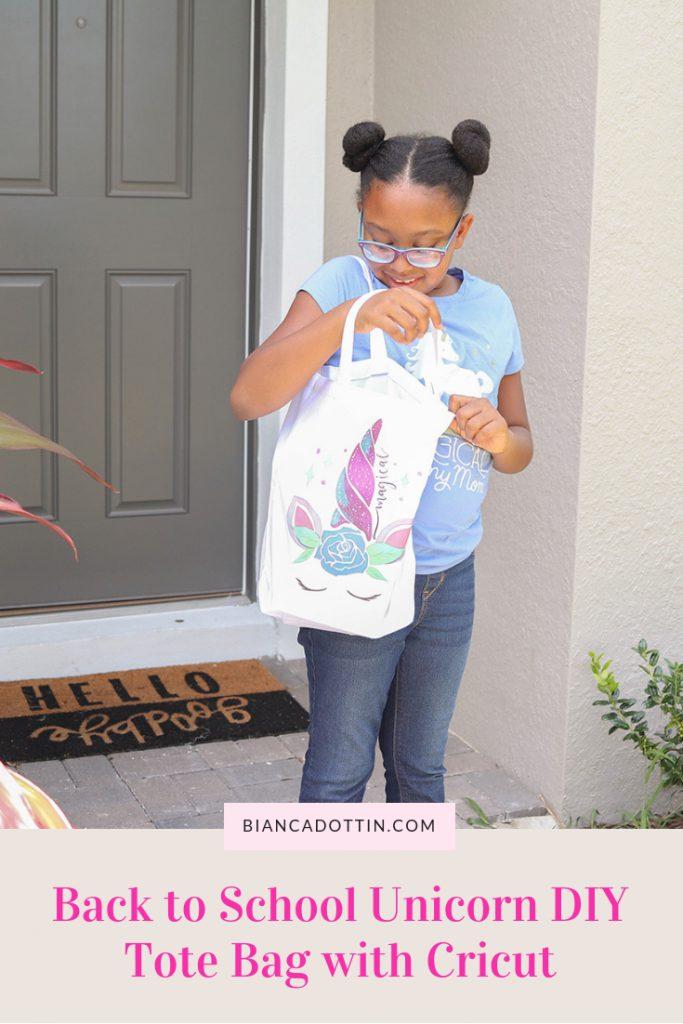 Back to School Unicorn DIY Tote Bag with Cricut