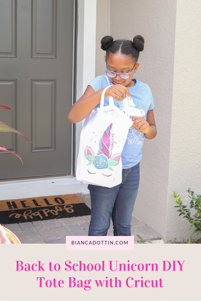 Back to School Unicorn DIY Tote Bag with Cricut