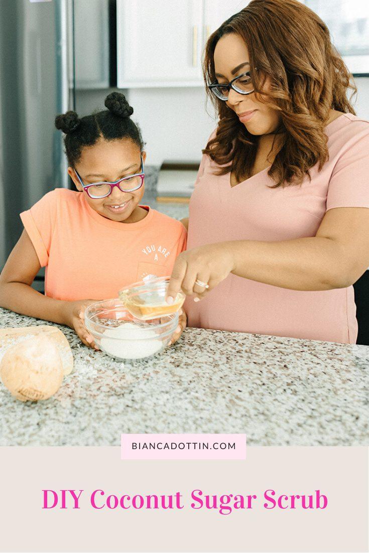 DIY coconut sugar scrub recipe
