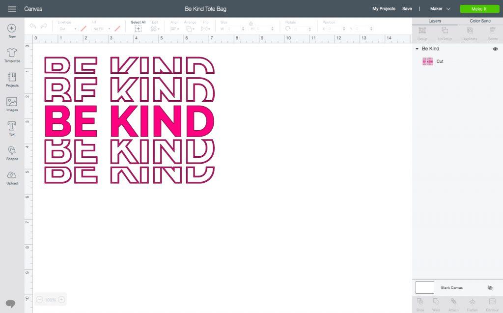 Be Kind Tote Bag Design