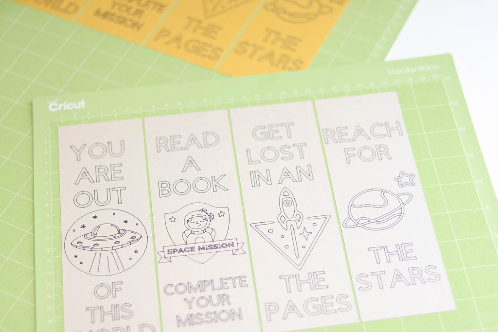 bookmarks after drawing and cutting