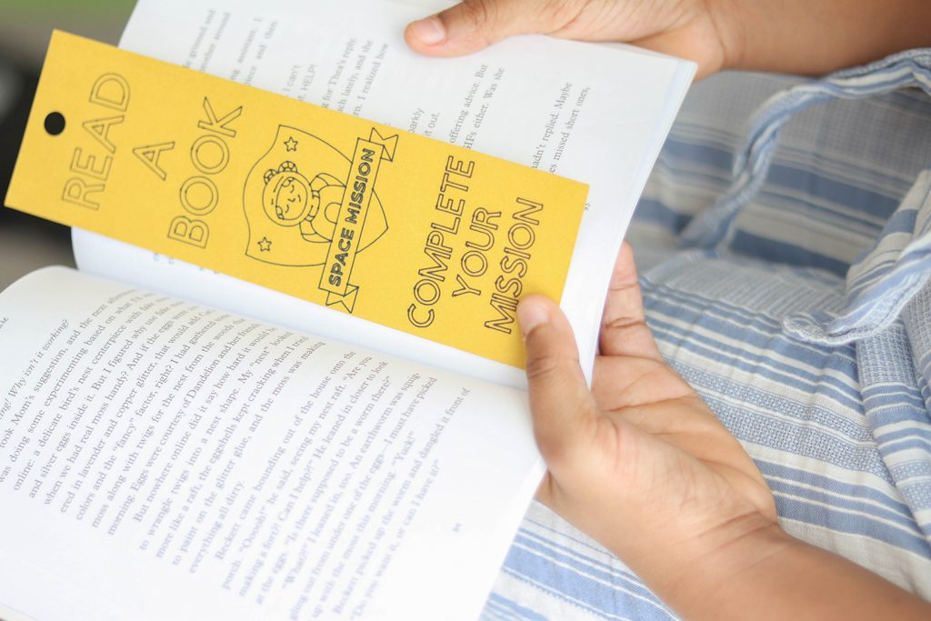DIY Coloring Bookmarks for Kids