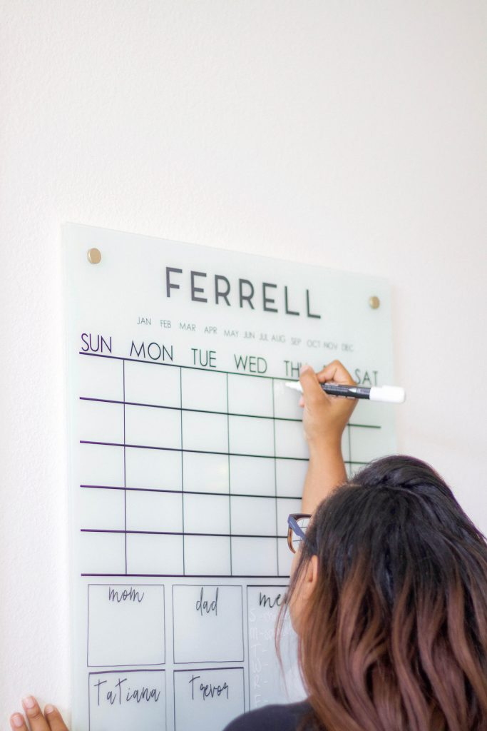 DIY family Calendar