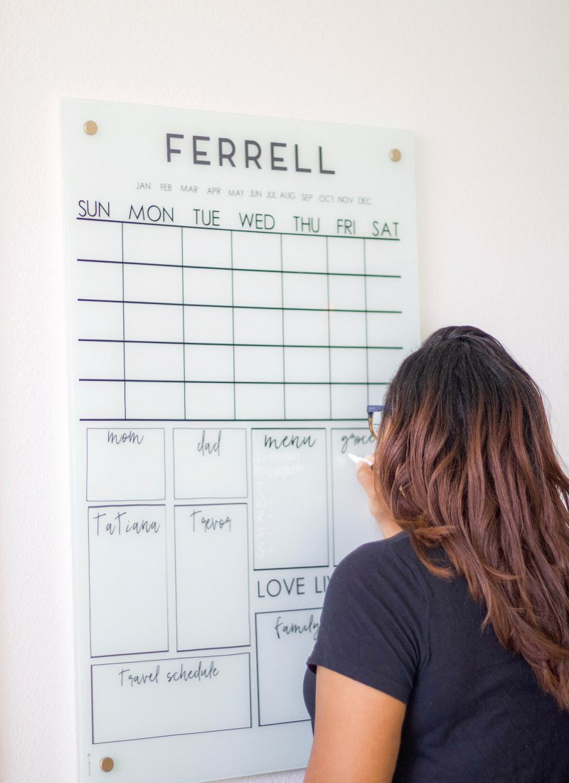 Stylish DIY Acrylic Calendar Under $40