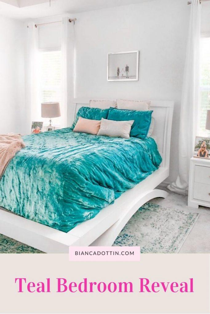teal bedroom inspiration