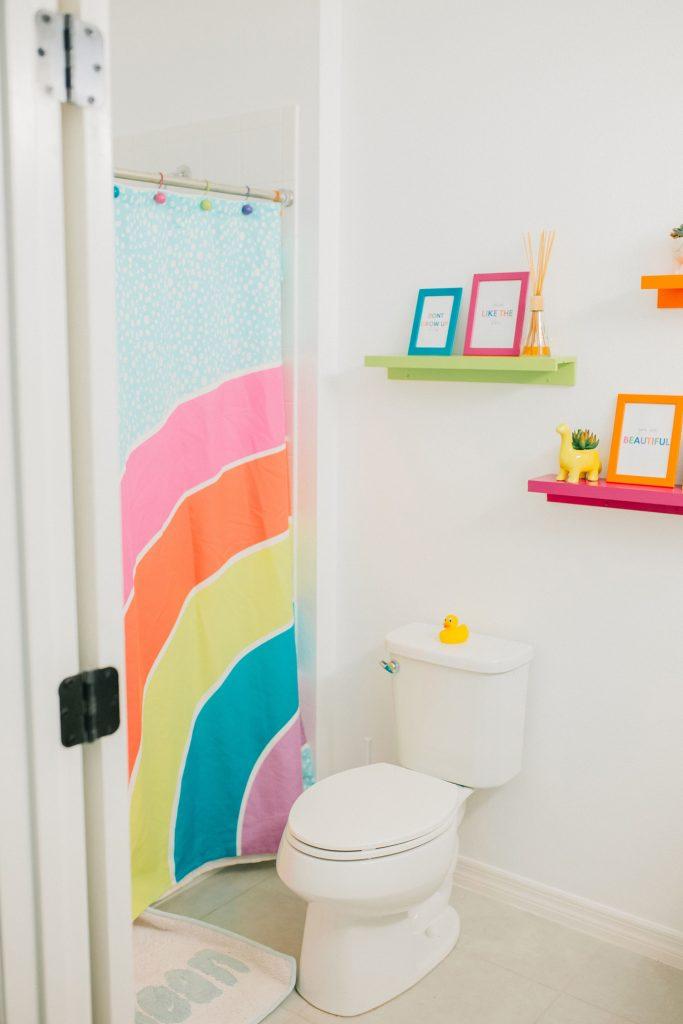rainbow kids bathroom
