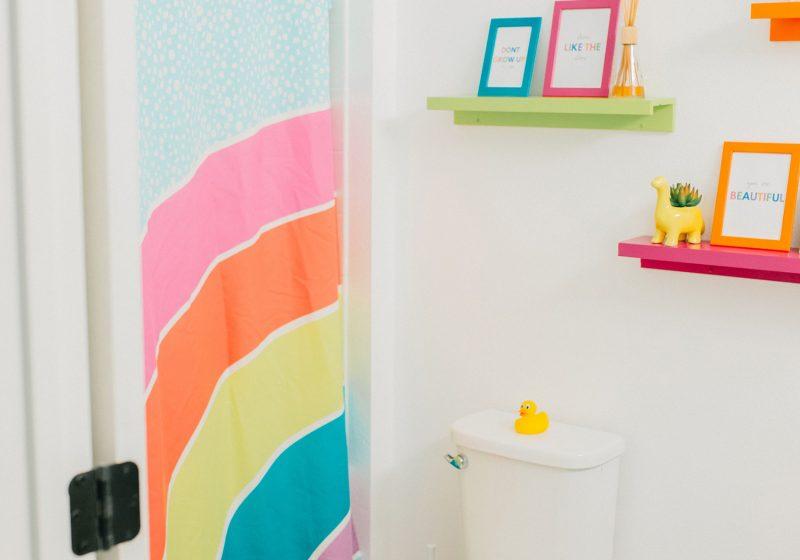 Colorful Kids Bathroom Reveal