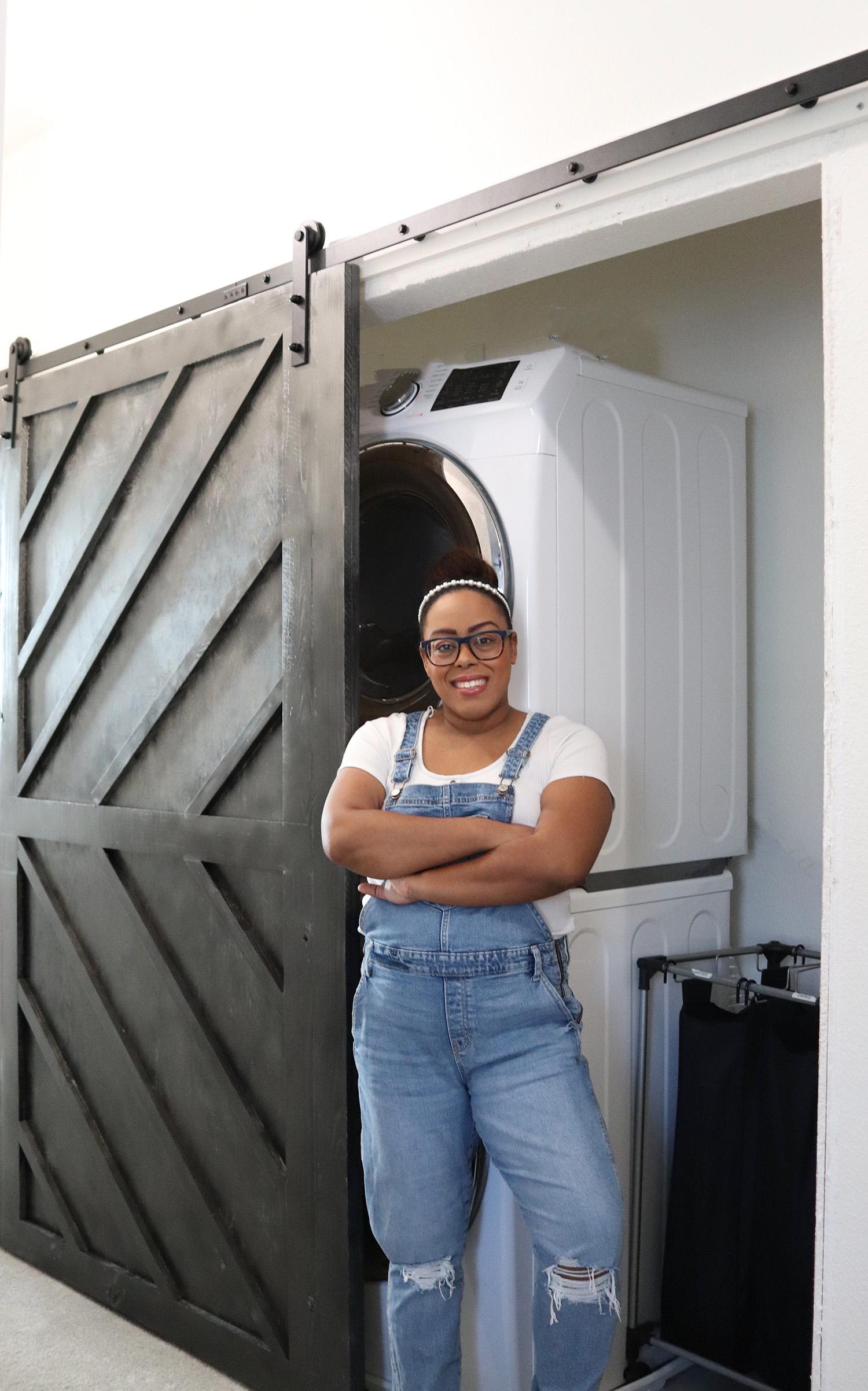 DIY double barn door closet