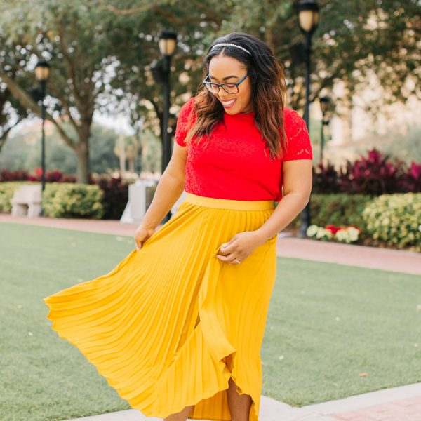 Recreate This Colorful Holiday Outfit Idea with Ease