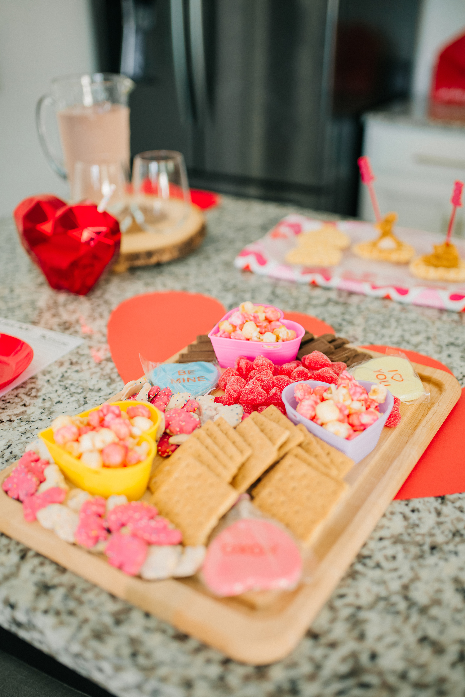 candy board for valentine's day