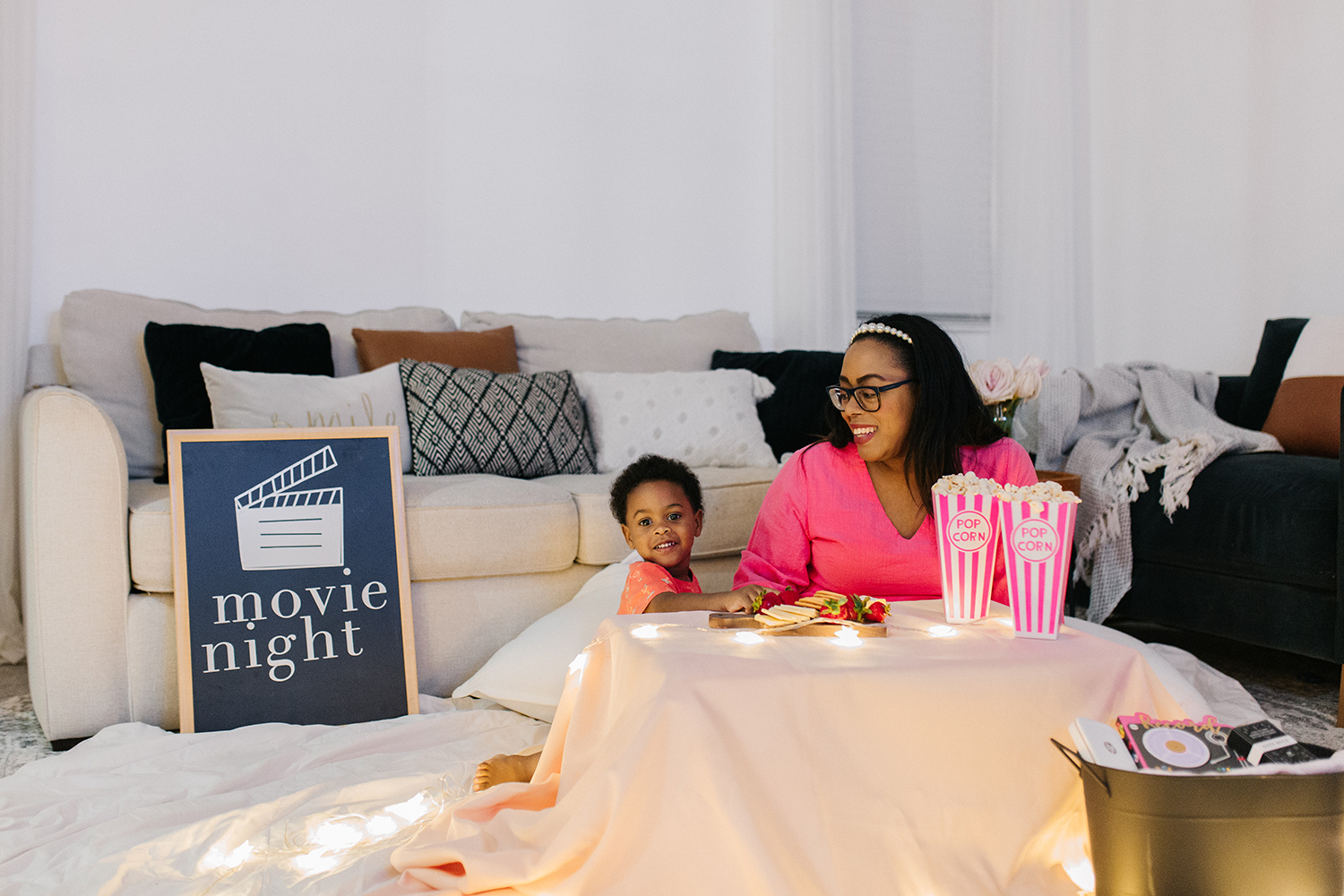 movie date night at home