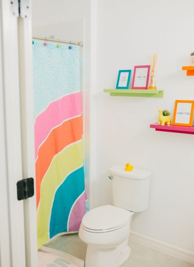 Colorful Kids Bathroom Reveal
